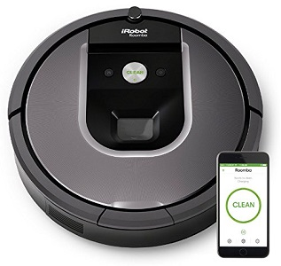 2.iRobot Roomba 960 Robot Vacuum with Wifi Connection.
