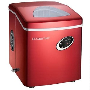 7. EdgeStar Ip210 Red Portable Icemaker.