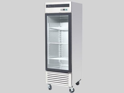 3. Vortex Refrigeration 2 Sliding Glass Door Black Merchandiser