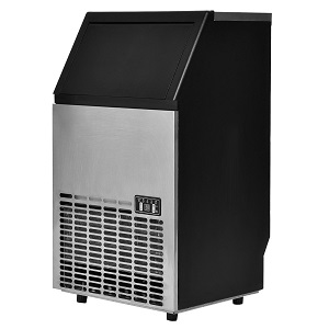 8. Costzon Built-in Stainless steel Commercial ice Maker.