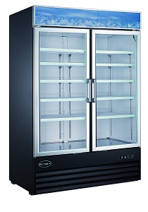 5. Saba Two Glass Door Reach-In Freezer Display Case