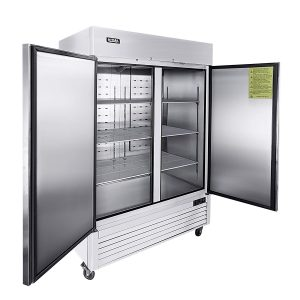 1. KITMA Two Section Solid Door Reach-in Commercial Refrigerator
