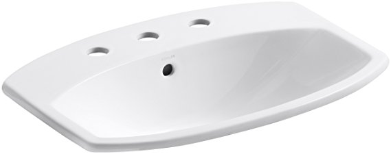 3. KOHLER K-2351-8-0 Cimarron Self-Rimming Bathroom Sink