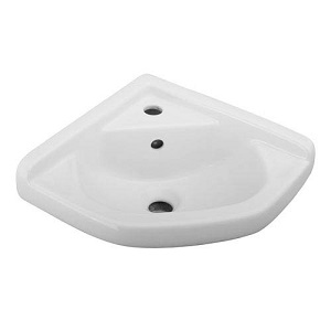 1. Barclay 4-750WH 14-Inch Corner Wall-Hung Basin, White