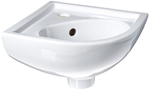 5. Barclay 4-745WH Petite Vitreous China Wall-Hung Corner Basin