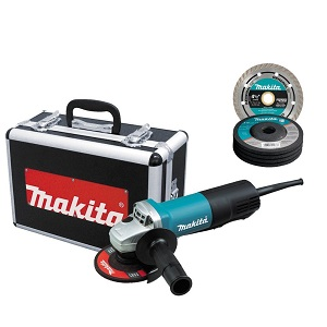 5- Makita 9557PBX1 4-1/2-Inch Angle Grinder with Aluminum Case