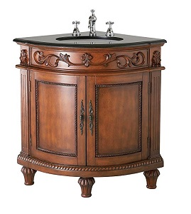 4. Belle Foret BF80039R Single Basin Bathroom Corner Vanity