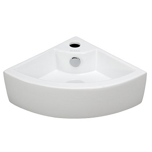 10. Elite Sinks EC9808 Porcelain Wall-Mounted Corner Sink