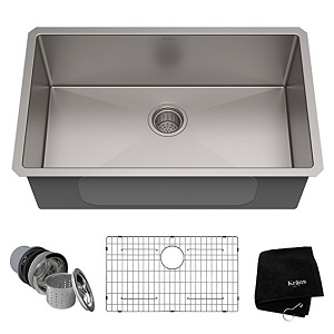 7. KRAUS Standart PRO Single Bowl Stainless Steel Kitchen Sink
