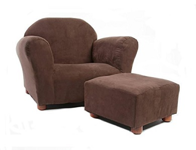 1. Roundy Chil Size Chair with MicroSuede Ottoman