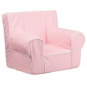 4. Flash Furniture Small Light Pink Dot Kids chair