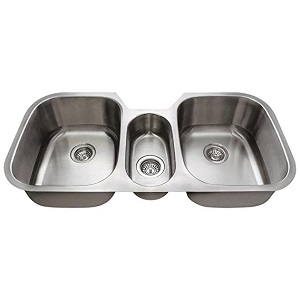 2. 4521 Triple Bowl Stainless Steel Kitchen Sink