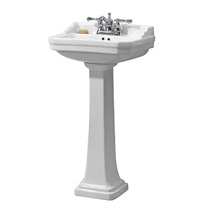 9. Foremost Series 1920 FL-1920-4W Pedestal Combo Bathroom Sink