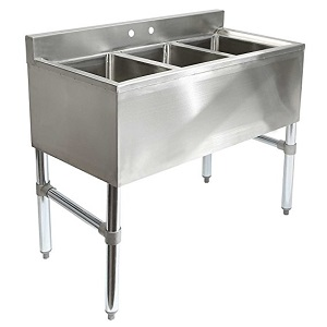 5. Gridmann 3 Compartment NSF Stainless Steel