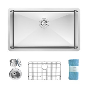 3. ZUHNE Modena Undermount Single Kitchen Sink