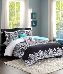 1. Teen Girl Bedding Damask Girls Comforter.