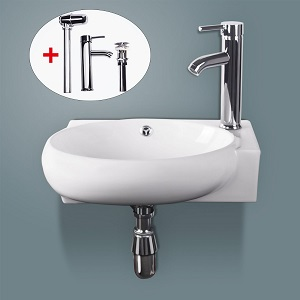 8. Sliverylake Corner Wall Mount Sink