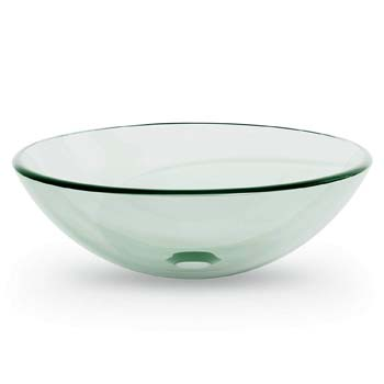 1. Miligoré Round Clear Vessel Sink
