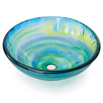 10. Miligoré Modern Glass Vessel Sink