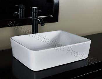 6. Bathroom Ceramic Porcelain Vessel Sink CV7050E3 Oil Rubbed Bronze Faucet Pop Up drain