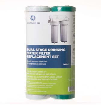 3: GE FXSVC Dual Stage Drinking Water Filtration System Replacement Filter (VOC)