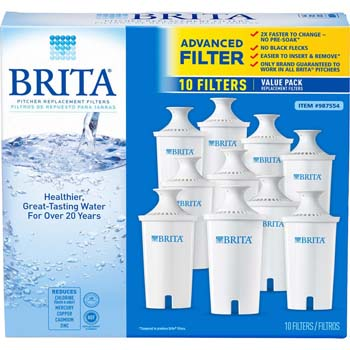 2: Brita 987554 Pitcher Replacement Filters, 10-Pack