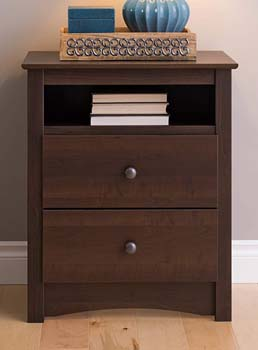 10. Prepac EDC-2428 Fremont 2 Drawer Nightstand