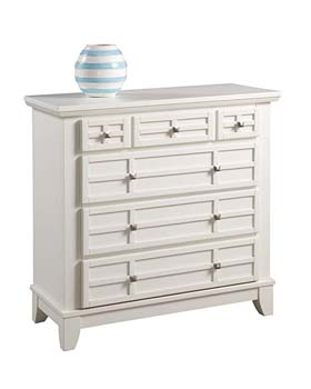 2. Home Styles 5182-41 Arts and Crafts Four Drawer Chest, White Finish