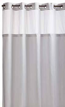 3. Arcs & Angles Hookless RBH53MY306 Herringbone Built-in Fabric Liner Fabric Shower Curtain