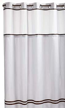 1. Arcs & Angles Hookless RBH40ES305 Fabric Shower Curtain