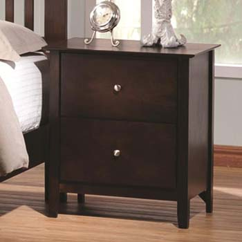 8. Coaster Tia Transitional Cappuccino Nightstand