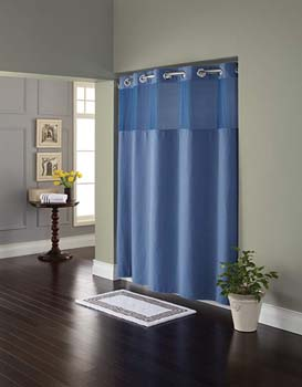 2. Hookless RBH82MY417 Fabric Shower Curtain with Built in Liner