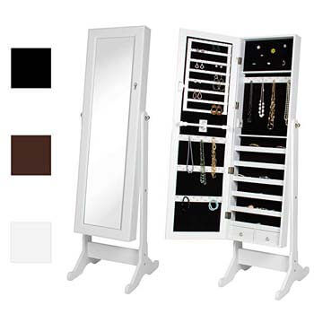 7. Best Choice Products Mirrored Jewelry Cabinet Armoire