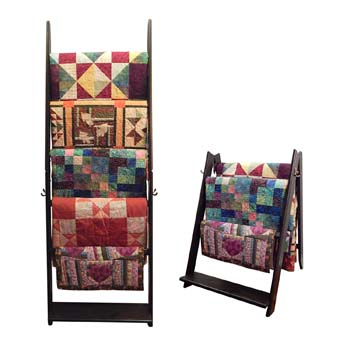 4. The LadderRack 2-in-1 Quilt Display Rack