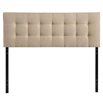 2. Modway Lily Upholstered Tufted Fabric Headboard Queen Size