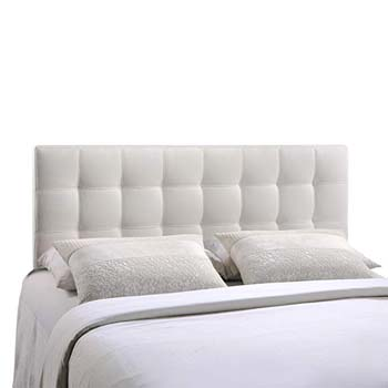 3. Modway Lily Upholstered Tufted Vinyl Headboard Queen Size