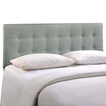 6. Modway Emily Upholstered Tufted Button Fabric Queen Size Headboard
