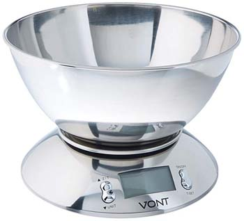 3. Vont 11lb/5kg Digital Kitchen Food Scale