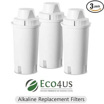10: Eco4us Alkaline Water Pitcher Replacement Filters