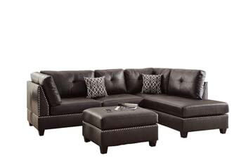 1. Poundex Bobkona Viola Faux Leather Left Right Hand Chaise