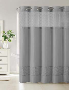 10. Hookless RBH40MY098 Downtown Soho Shower Curtain