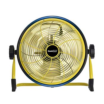 10. Geek Aire Rechargeable Outdoor Floor High Velocity Fan