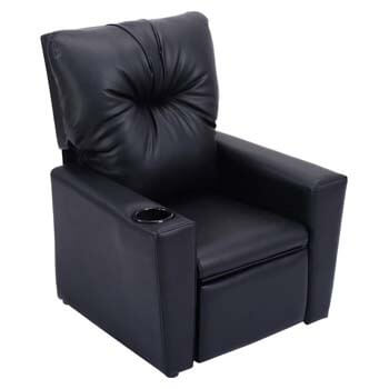 5. Costzon Kids Recliner Sofa, PU Leather Chair with Reclining Seat