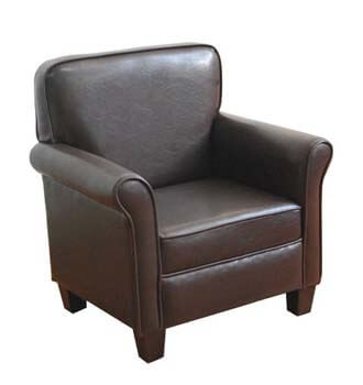 6. HomePop Youth Leatherette Club Chair