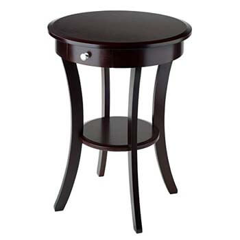 6. Winsome Wood Sasha Accent Table, Cappuccino finish.