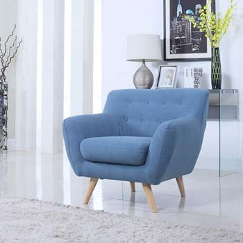 9. Case Andrea Milano Mid-Century Modern Chair