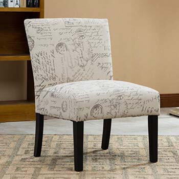 1. Roundhill Furniture Botticelli English Letter Print Chair