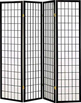 5. Coaster Folding Screen Black and White – 4 Panels