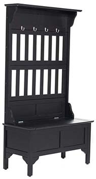 6. Home Style 5650 -49 Full Hall Tree and Storage Bench