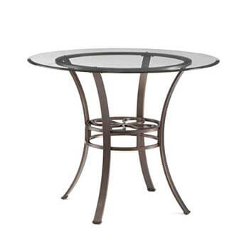 7. Southern Enterprises Lucianna Glas Top Dining Table